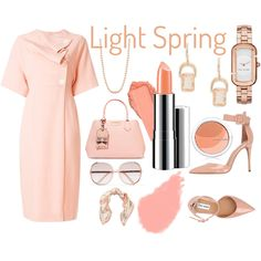 Fashion set Light Spring created via Light Spring Palette, Spring Color Palette, Spring Colors, Clear Spring, Bright Spring, Warm Spring, Seasonal Color Analysis, Color Me Beautiful, Colourful Outfits