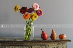 Flowers, a must in every house! Still life with colourful flowers by Shawna Lemay.  Stockiste Creative imagery for creative minds.  https://stockiste.com/display/still-life-with-colourful-flowers/21831 File: 201712-21831  #Stockiste, #Photographer, #ShawnaLemay, #ContentMarketing, #Storytelling, #Photography, #StockPhotography, #Stockphoto, #Stockimage, #StockisteCreativeStock, #Flowers, #StillLife, #Daisies, #Pears,