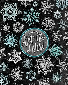 ♥ Let It Snow ♥ ♥ L I S T I N G ♥ Each image is originally hand drawn with chalk