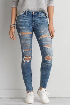 AEO Denim X Jegging (Jeans) Ankle, Women's, Size: 6 Short, Super Slash