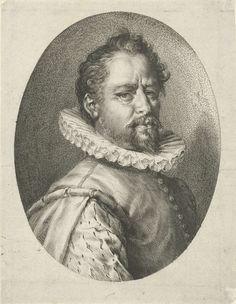 Jan Harmensz. Muller   Portret van Bartholomeus Spranger, Jan Harmensz. Muller, Hans von Aachen, 1597   Portret van schilder en prentmaker Bartholomeus Spranger in een ovaal.