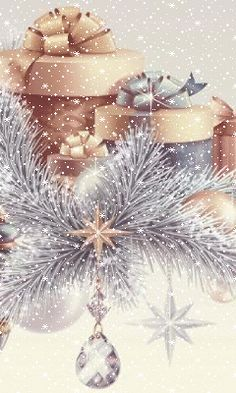 Christmas gif`s animated pictures. Christmas Scenes, Noel Christmas, Merry Christmas And Happy New Year, Vintage Christmas Cards, Christmas Pictures, Christmas Greetings, Winter Christmas, Christmas Lights, Christmas Decorations