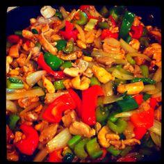 Kung Pao Chicken with stir fried veggies