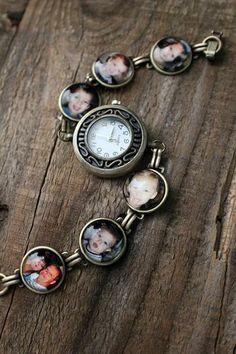 Custom Personalized Photo Watch Bracelet by jerseymaids | Hatch.co