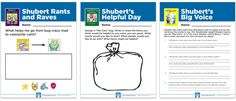 """Extension Activities for the Shubert Book Series: Use these highly interactive and engaging extension activities to help your children find their """"BIG voice"""" and learn the seven skills of emotional intelligence. For both younger and older children, these activities foster conversation, learning and fun after reading and discussing a Shubert book with your children. Remember to visit Shubert's School: http://consciousdiscipline.com/shubert/"""