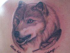 Native Indian Wolf Tattoo