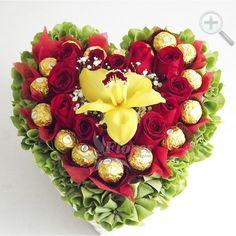 Floreria - Flores Elegantes de Mexico corazon de rosas