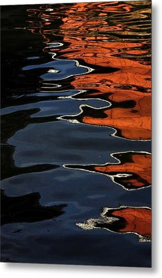 Lake Reflections  Metal Print By Michelle  Morris