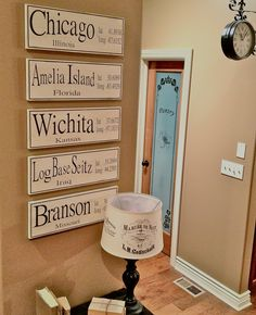 Loved the Latitude Longitude signs on Mandi's blog Tidbits from the Tremaynes, http://manditremayne.blogspot.com/2011/07/its-so-pinteresting.html  so I had to try it myself!  Used my handy new Silhouette Cameo to cut the vinyl, laid it out on boards painted black, painted creamy white over the top of the vinyl, then peeled the vinyl off and voila!! Loving it for a total of 24 dollars including hanging hardware!!!