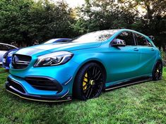 This has to be one of the best looking and eye catching Mercedes AMG's on the road. The colour beats the pearl white we so often seen on the road. Mercedes A45 Amg, Mercedes World, Auto Business, Toyota Mr2, Car Wrap, Supercars, Pearl White, Beats, Germany