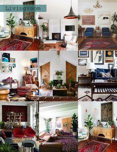 Boho-tastic Livingroom Mood Board