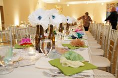 DIY Décor from a wedding reception at The Center!