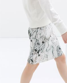 Style: Minimal + Classic: PRINTED SKIRT from Zara