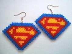 Handmade Hama / Perler fused beads earrings fun novelty kitsch gift | eBay