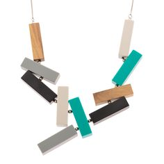 Buy the Connected Blocks Collar Necklace at Oliver Bonas. Enjoy free worldwide standard delivery for orders over £50.