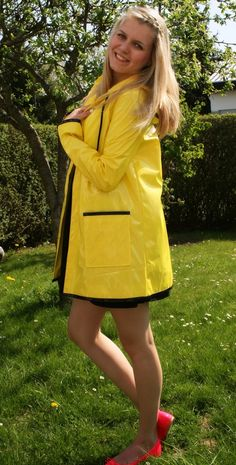 Naked clear raincoat