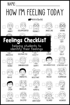 Feelings Checklist Part Of Bundle Which Includes 10 Social Emotional Learning Posters - New Deko Sites School Counseling Office, Elementary Counseling, Counseling Activities, Career Counseling, School Counselor, School Office, Elementary Schools, Social Work Offices, School Social Work