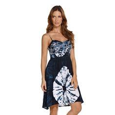 HAND DYED SHORT DRESS - VE224/WAB - DRESSES - RESORTWEAR - ondademar.com