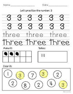 Miss Kindergarten: Teaching Numbers