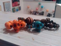 A collection of skulls rings by Ruth O'Hagan Halloween Diy, Skulls, Stud Earrings, Jewellery, Collection, Jewels, Jewelry Shop, Studs, Schmuck