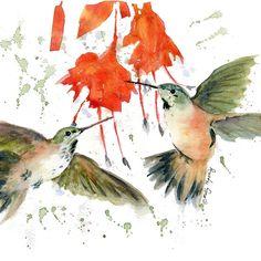 #Hummingbird Watercolor