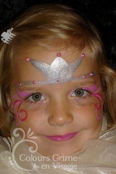 #Princess #facepaint #tiara
