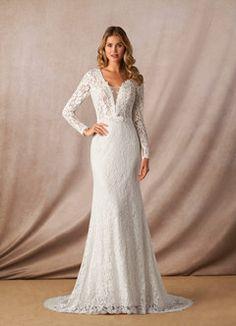 Azazie Linnea BG Wedding Dresses   Azazie Indie Wedding Dress, Perfect Wedding Dress, Wedding Dress Styles, Dream Wedding, Winter Wedding Dresses, October Wedding Dresses, Lace Wedding, Grecian Wedding, Wedding Frocks