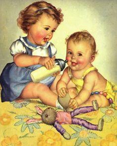 Awwww...little mommy