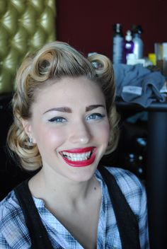 1940s hair rolls with a new twist
