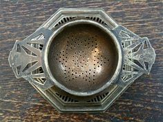 Vintage English Tea Strainer with Stand.*