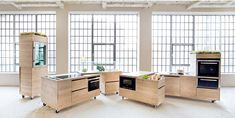 Modular Kitchen Series - The Foodlab Set Contains Customizable Kitchen Furniture on Wheels (GALLERY)