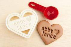 Heart Cookie Cutter Personalized Wedding Cookie Cutter Heart Shaped by NameThatCookie on Etsy https://www.etsy.com/listing/199526532/heart-cookie-cutter-personalized-wedding