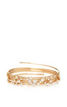 Five Circle Wrap Diamond Bracelet In Pink Gold by MATTIA CIELO