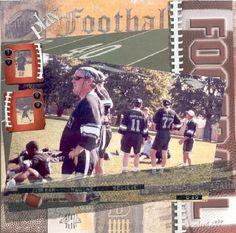Scrapbook Layout Football