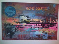 Hermosa Pier Original Painting by Ryan Graeff | Calmoda Furniture Mfg. Blog 2010