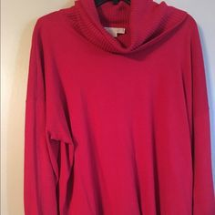 Sweater Candy apple red Micheal Kors sweater MICHAEL Michael Kors Sweaters Cowl & Turtlenecks