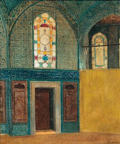 """Stanislaw Chlebowski (Polish, 1835-1884) """"In the mosque"""", 1875"""