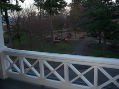 view from the porch Idea for front porch railing. Love the simple design - Scott hates =( from the porch Idea for front porch railing. Love the simple design - Scott hates =(Idea for front porch railing. Love the simple design - Scott hates =( Front Porch Railings, Patio Railing, Patio Fence, Screened In Porch, Front Porches, Railing Ideas, Porch Railing Designs, Br House, House With Porch