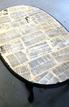 Pinterest in Real Life: Coffee Table Redo! - Love to do this with old Bible pages with our favorite verses highlighted!