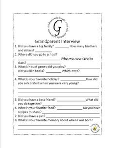 Write a letter to Grandma or Grandpa for Grandparents Day One