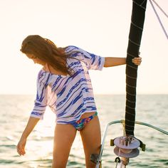 Printed Tunic from our Ship to Shore lookbook. #Aerie