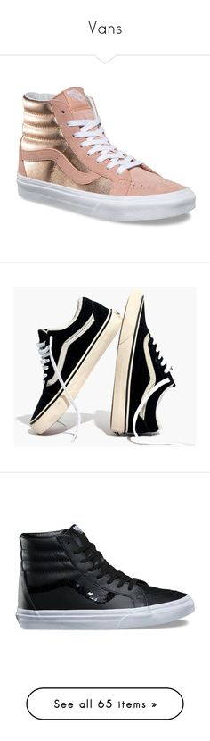 """""""Vans"""" by gracesthetically-pleasing ❤ liked on Polyvore featuring shoes, sneakers, vintage high top sneakers, vintage sneakers, leather sneakers, high top trainers, leather high top sneakers, black, vans and black suede sneakers"""
