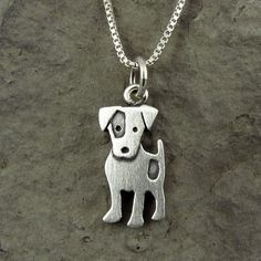 Tiny Jack Russell terrier necklace
