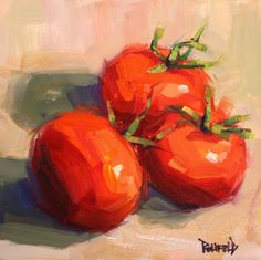 cathleen rehfeld • Daily Painting: Spring Tomatoes