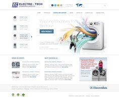 Electro Tech Web Design by KurtykaGroup , via Behance
