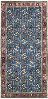"""A Kirman Vase Carpet, Southeast Persia, Safavid, mid-17th Century, 339cm x 153 cm. Known as """"The Comtesse de Béhague Vase Carpet."""""""