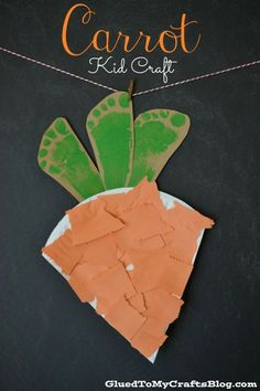 Easter carrot baner, Easter Crafts for Kids, Easter home decoration #2014 #Easter #Day #home #decor #DIY #crafts #ideas www.loveitsomuch.com