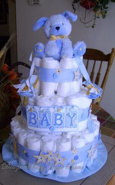 Doggy Diaper Cake