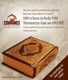 IOU's Global Quran Memorization Center Completely ONLINE! From Instructors holding Ijaaza in memorization Completely separated learning environments for sisters and brothers  JOIN NOW! by visiting: http://iou-gqmc.com/ HURRY UP! #IOU #GQMC You can enroll into groups by 15th APRIL ONLY!! For any queries, please email us at info@iou.edu.gm