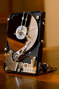 Computer hard drive desk clock